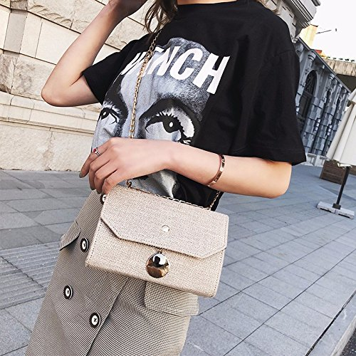 Fire Square Chica Mini Khaki ins Verano Hombro Bag Black Chic ZHANGJIA Chain Mini Bolso Bolsa Super de Satchel Solo 7WXqvYxw