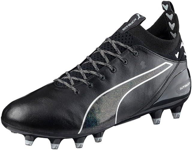 Puma Nouveau Puma evoTOUCH Pro FG Noir Vert Chaussures De Foot