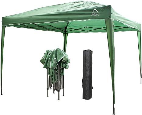 All Seasons Gazebos Pérgola de apertura instantánea con 4 patas, 4 bolsas de contrapeso y 2 barras contra el viento, incluye bolsa de transporte, 3 x ...