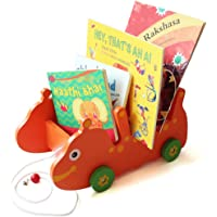 Shumee Wooden Catterbug-Buggy (3 Years+) - Pull Along Toy - Orange