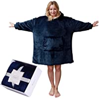 softan Sherpa Hoodie Sweatshirt Blanket,Super Soft Warm Cozy Giant Hoody Large Front Pocket One Size for All,Gift Box