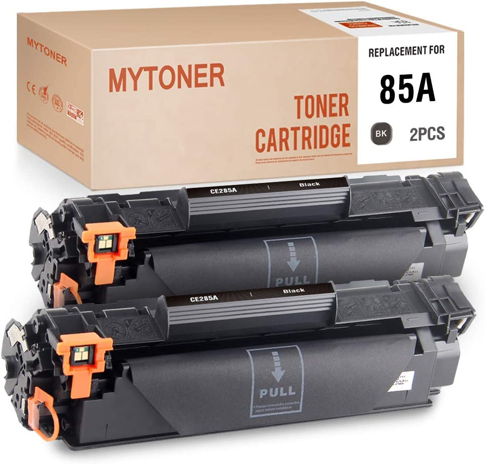 MYTONER Compatible Toner Cartridge Replacement for HP 85A CE285A for Laserjet Pro P1102w P1102 M1212nf Multifunction Ink Toner Printer (Black, 2-Pack)