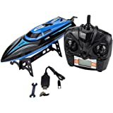 RC Boat, 4 Channel 25km/h Remote Control Racing Speedboat Model Toy Ship for Kids Gift