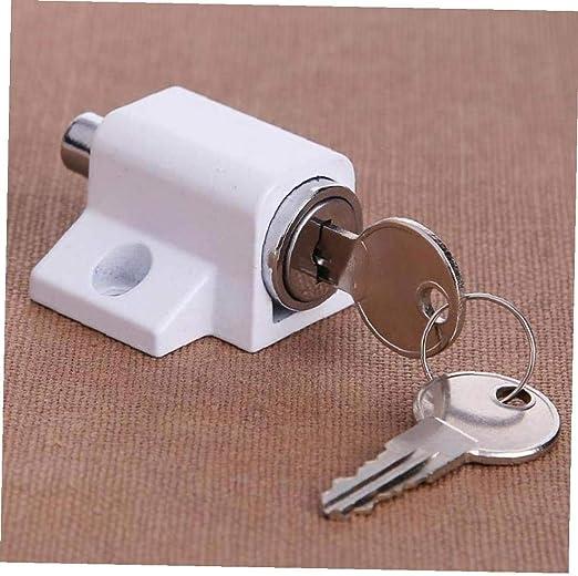 Aisoway Ventana cerraduras de Ventanas correderas de Aluminio Escudo de Acero cerraduras de Seguridad Puertas de Bloqueo de Seguridad de Windows con 2 Llaves: Amazon.es: Hogar