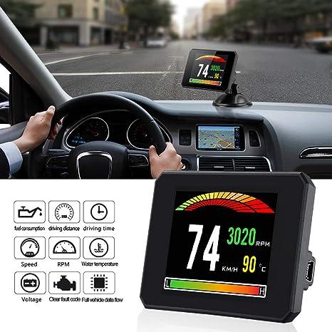 SWOO CAR Head Up Display, Universal HUD Display OBDII Digital Velocímetro kmh/MPH con