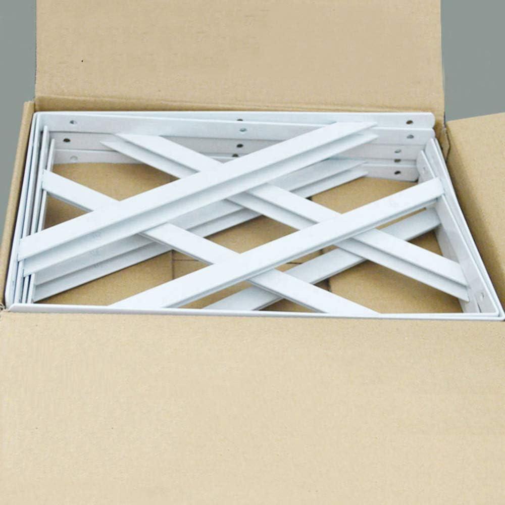 250mm Soporte de tr/ípode Pintura blanca Pared de hierro liviano Soporte de /ángulo recto Estante Tablero de madera Soporte fijo de carga Rack 2 Pack 400