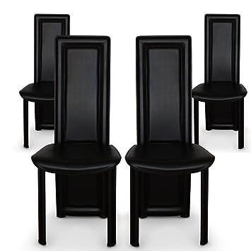De Design Chaises Noir 4 Maestro Lot Intensedeco CderoxB