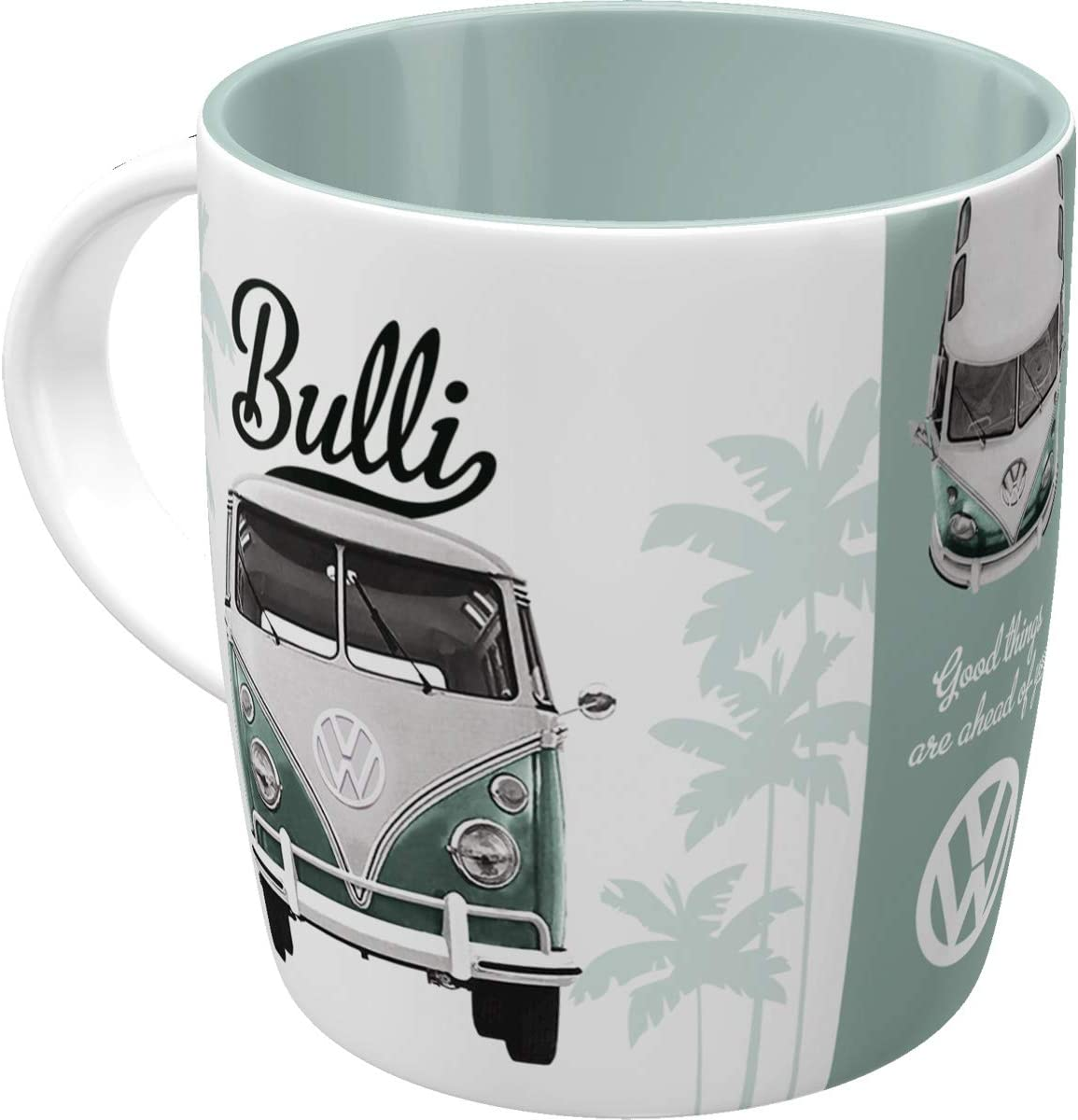 Geschenk-Idee f/ür VW Bus Fans Camping-Tasse Nostalgic-Art 43218 Retro Emaille-Becher Volkswagen Bulli T1 Vintage Design 360 milliliters Beach