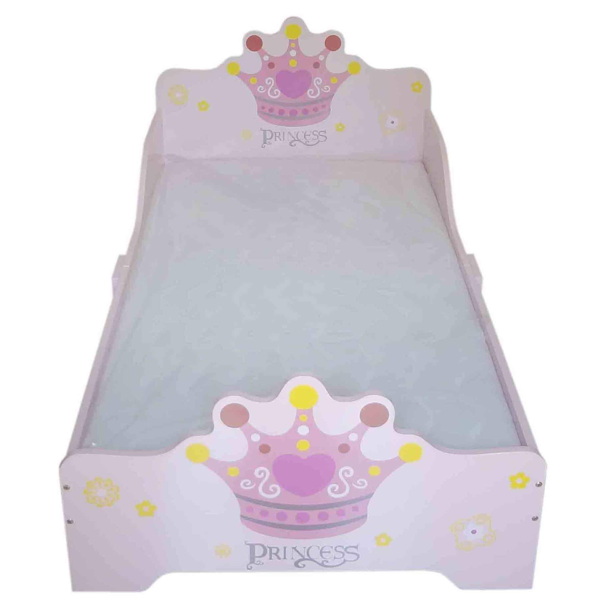 Bebe Style Princess Theme Wooden Toddler Bed Beautiful Designed for Toddlers and Children Easy Assembly, Standard Toddler Bed, Pink