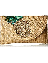 Pineapple Straw Clutch
