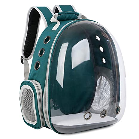 8b86b1d43bca Image Unavailable. Image not available for. Color  Yeahii Pet Transport Backpack  Breathable Transparent Space Capsule Pet Carrier Backpack for Cat Puppy ...