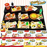 (US) ORCARA Miniature Dollhouse Fast Food American Restauant Doll Accessorie Set of 8
