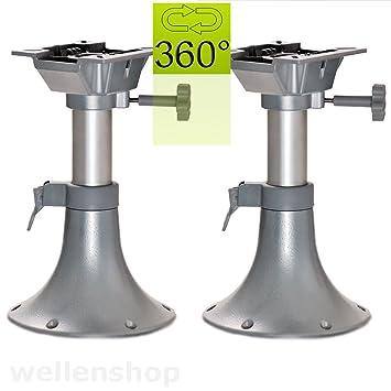 wellenshop 2 x Teleskop Stuhlsockel Sitzkonsole 330-435 mm Boot /& Wohnmobil