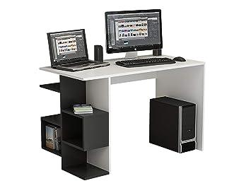 Homidea firmum bureau table pour ordinateur avec étagère en un