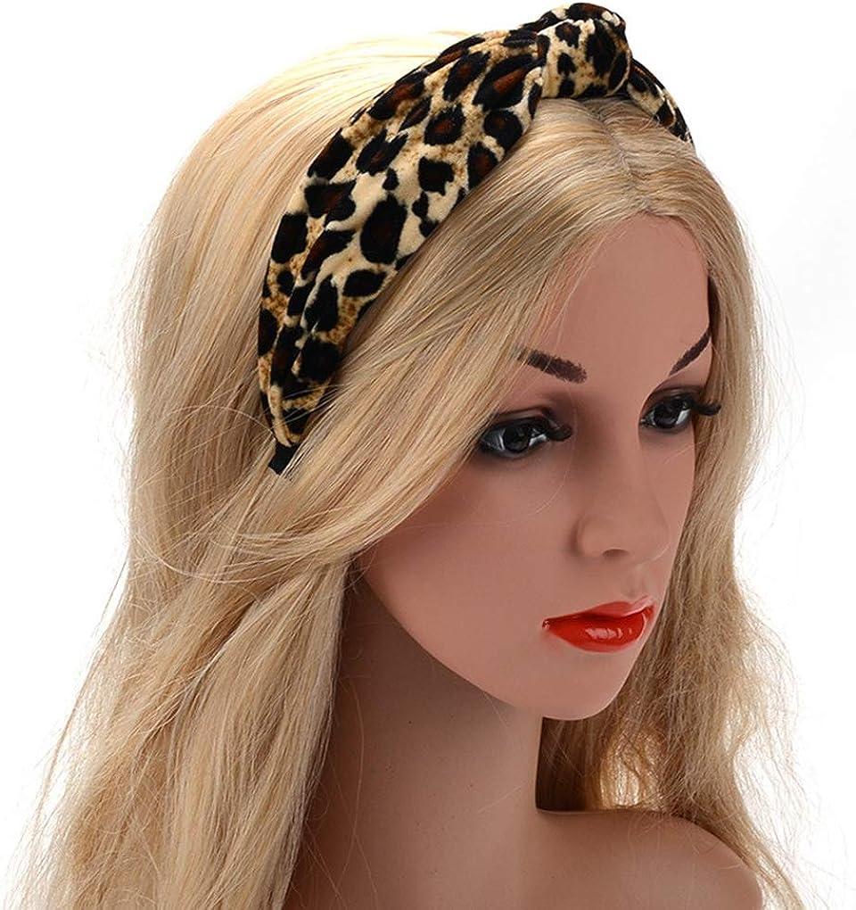 Arichtop Les Femmes Pilou Sport Bandeaux Yoga Headwraps imprim/é l/éopard Hairdband Tissu /élastique Cheveux Hoop