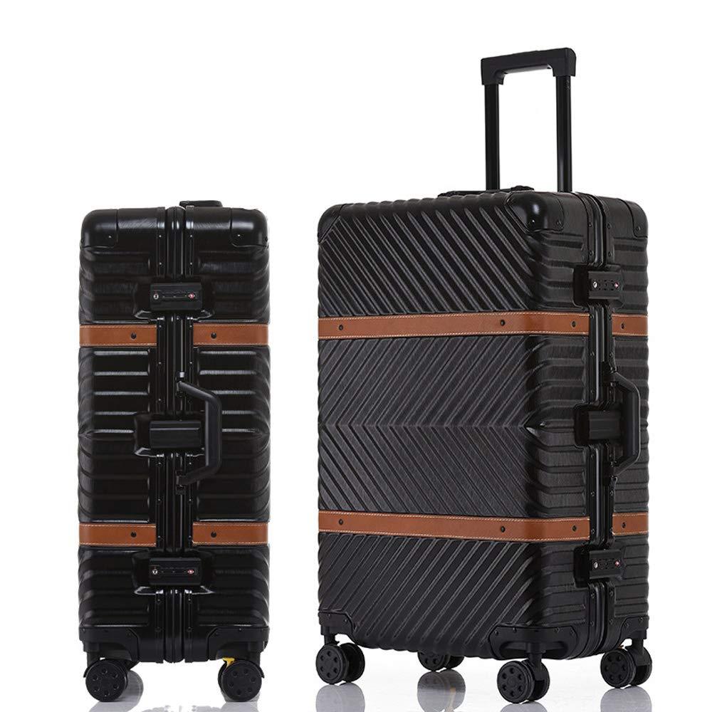 ABS + PC素材で作られたスーツケース、防水性、耐擦傷性、肌触りが快適、高温および老化 40*24*65cm B07SS94KBR Black
