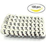100 Sets Silver Tone Magnetic Purse Snap Clasps Button /Great for Closure Purse Handbag Clothes Sewing Craft No Tools Required 14mm (14mm)