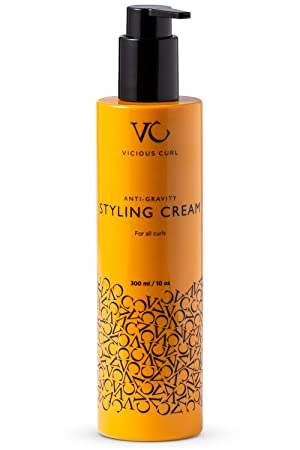Amazon Com Vicious Curl Anti Gravity Styling Cream For Curly Hair Curl Defining Cream Curl Cream For Curly And Wavy Hair Frizz Control Unparalleled Curl Booster Enhancer 10 Oz Beauty