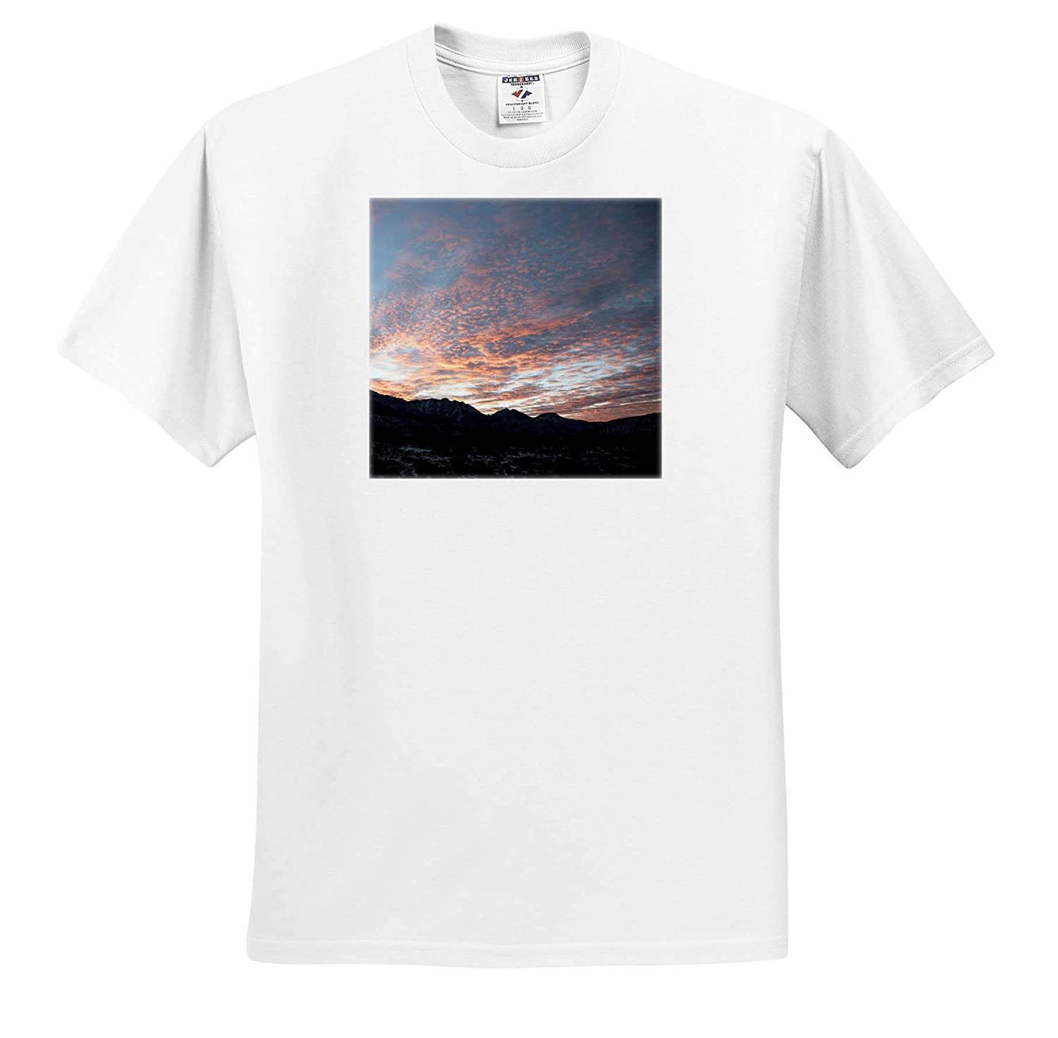 3dRose Jos Fauxtographee- Sunset ts/_320049 A Beautiful red Sunset in Winter time Adult T-Shirt XL
