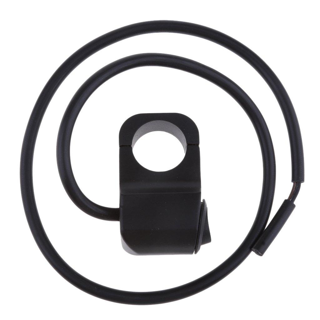 D DOLITY Interruptor de Faro de Manillar de Motocicleta de Aluminio 12v 7//8 Ajustable Negro