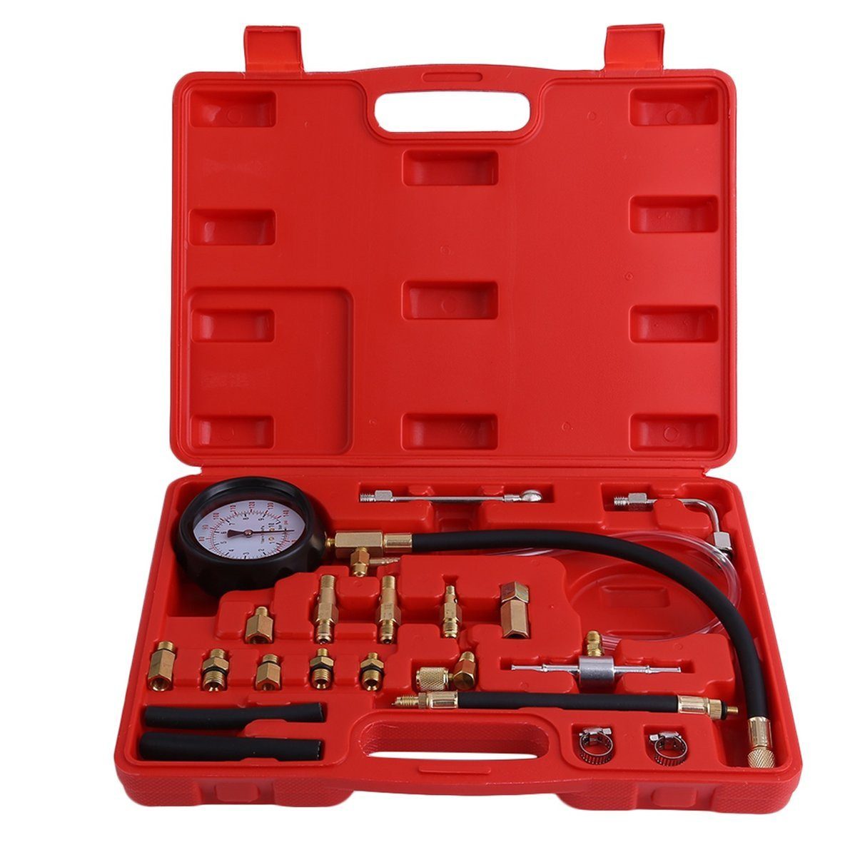 Jullyelegant 0-140 PSI Pompa iniezione iniettore Tester Misuratore di pressione Benzina Auto Vehicle Oil Combustion Spraying Diagnostics Tool