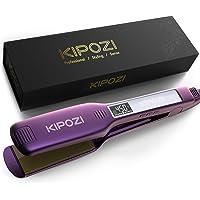 KIPOZI Professional Hair Straightener, 1.75 Inch Titanium Flat Iron for Hair, Dual Voltage Flat Iron with Adjustable…