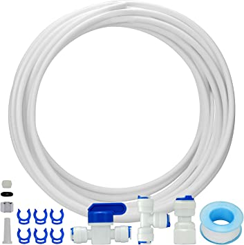 Amazon Com Fs Tfc Ice Maker Installation Kit And Fridge Water Line Connection For Reverse Osmosis Systems Refrigerator And Water Filters Home Improvement
