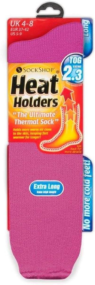 1 Pares Mujer Largos Altos Fantasia Trekking Trabajo Colores Invierno Calcetines para Botas de Agua HEAT HOLDERS