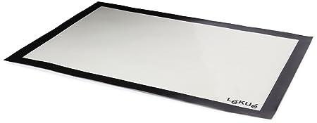 Lékué tapete coccion 60x40, Silicona, Blanco y Negro, 60 x 40 cm ...