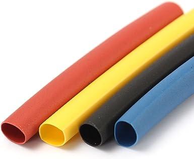 SOLOOP Conjunto de 328 Piezas de Poliolefina Tubo Termorretr/áctil 2:1 Libre de Hal/ógeno Tubo Sleeving 8 Tama/ño