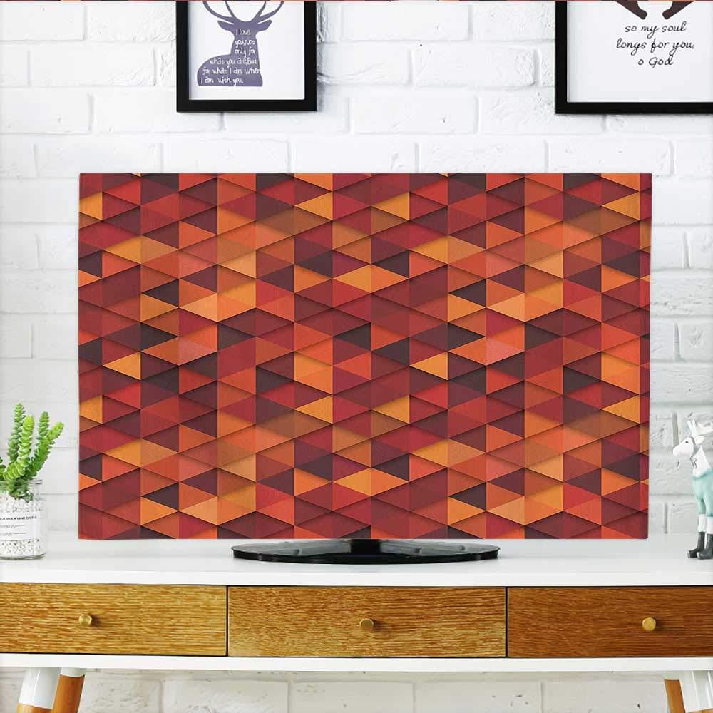 Leighhome テレビ トロピカルにインスパイアされたテーマのデザイン アーティスティック オレンジ イエロー TV 幅19 x 高さ30インチ/テレビ 32インチ W36 x H60 INCH/TV 65