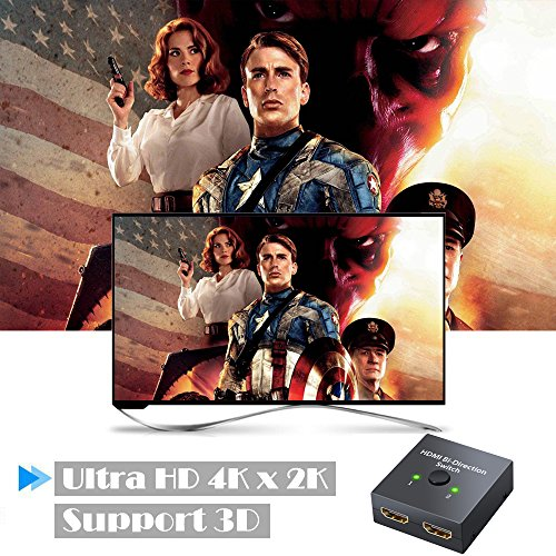 ESYNIC 4K HDMI Bi-directional Switch 2X1 or 1X2 HDMI Splitter with 60m HDMI 2.0 Cable Support HDTV Blu-Ray DVD Satellite DVR Xbox PS3 PS4 Fire TV stick Fire TV ROKU Apple TV by eSynic (Image #4)