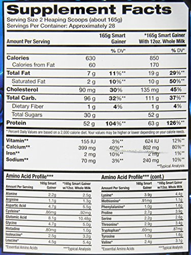 IDS Smart Gainer, Vanilla-Cinnamon, 10-Pound Package