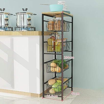 Yajun Küche Schmal Regal Aufbewahrungsregal Storage Tower Rack