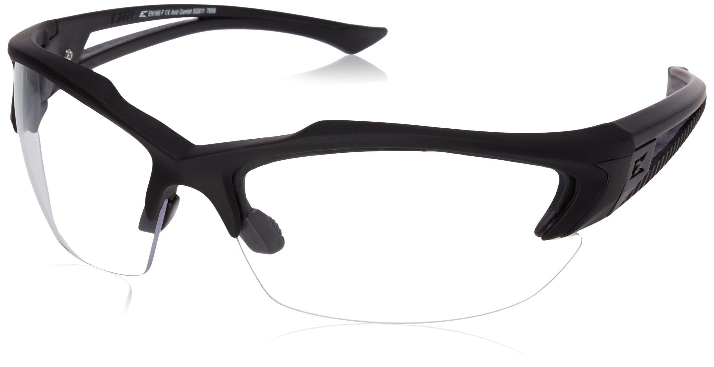 Edge Tactical Eyewear SG611 Acid Gambit Matte Black with Clear Lens by Edge Eyewear