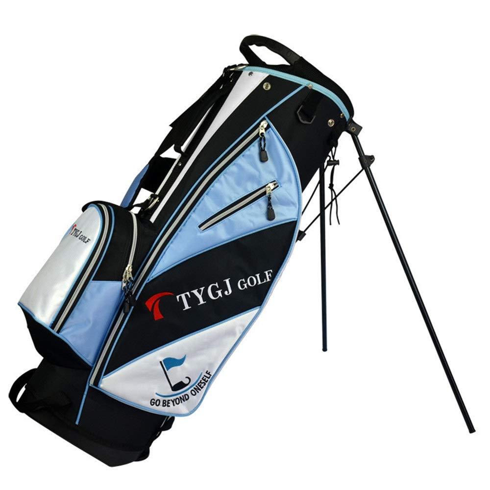 超軽量 大容量 ゴルフ クラブ ケース 女性のゴルフバッグキャリーバッグ防水丈夫な男性ゴルフ大容量ゴルフカートバッグ軽量ゴルフトラベルケース (色 : 青, サイズ : 86*27*35cm) B07SPWJPG6 青 86*27*35cm