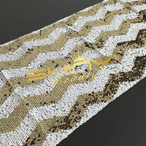 sparkly gold chevron sequin table runner 12 39 39 72 39 39 6034965402078 ebay. Black Bedroom Furniture Sets. Home Design Ideas