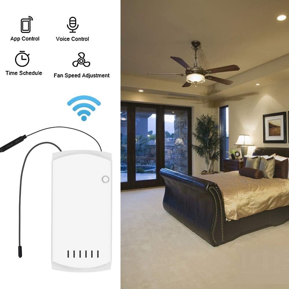Ceiling Lighting Ceiling Fans with Lamp Docooler iFan03 Smart Fan ...