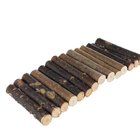 Rejoicing - Puente de escalera de madera, juguetes para masticar pequeños animales, hamaster,