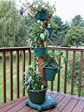 My Garden Post 5 Planter Vertical Gardening System with Drip Irrigation System Finish, Hunter Green