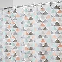 mDesign Cortina de baño con diseño de triángulos