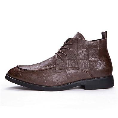 Los Hombres Botines De Cuero del Dedo del Pie Puntiagudo Zapatos De Vestir De Negocios Formales