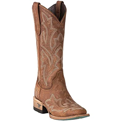 f12eee35c73 Amazon.com | Lane Women's Saratoga Fancy Stitch Cowgirl Boot Square ...