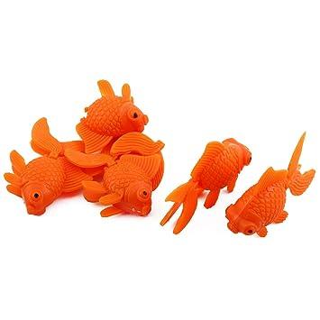 sourcing map Acuario de plástico Flotante simulado Peces Tropicales Ornamentos Naranja 5pcs: Amazon.es: Productos para mascotas
