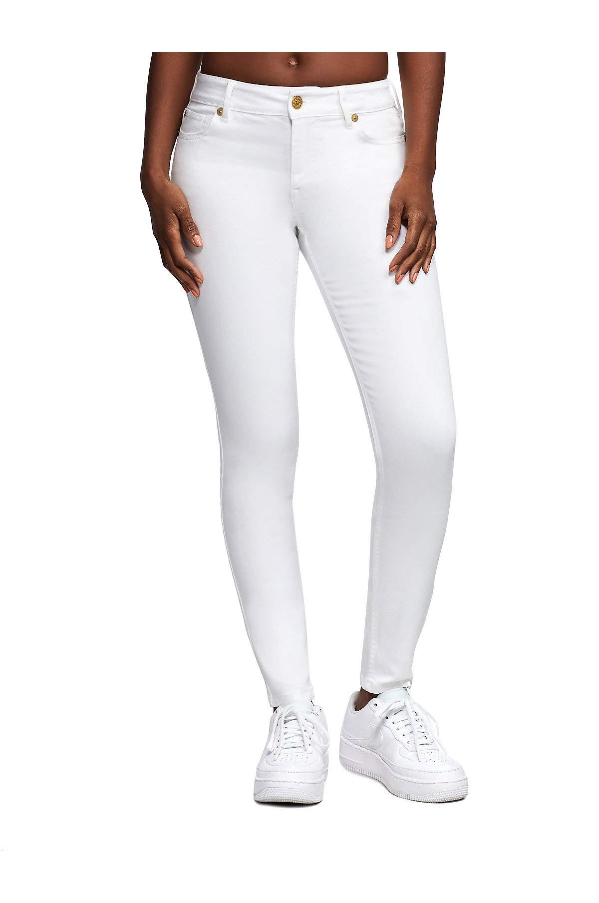 True Religion Women's X Manchester United Jennie Curvy Skinny Fit Stretch Jeans (24, White Water Wash) by True Religion