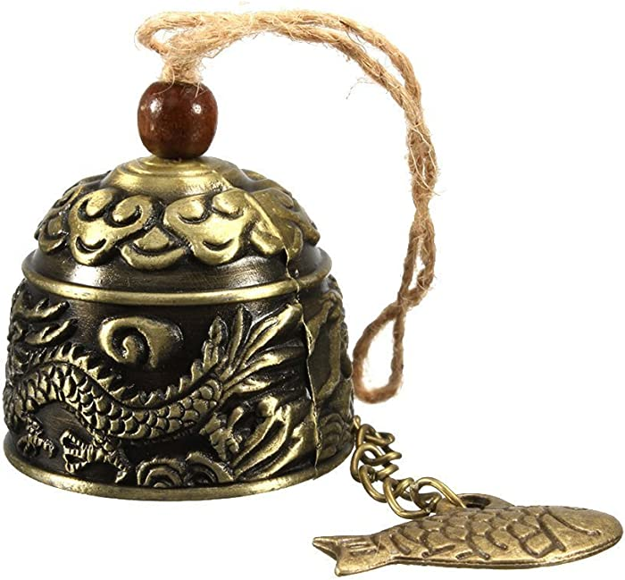 HiMo Vintage Dragon Fengshui Bell Toy Good Luck Bless for Home Garden Hanging Windchime Blessing Decoration Gift (Dragon)