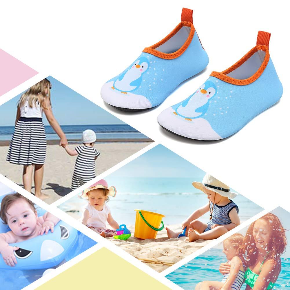 CIOR Fantiny Baby Water Shoes Infant Swim Shoes Skin Aqua Socks for Beach Swim Pool