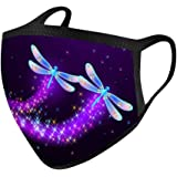 Adult Face Balaclavas Butterfly Print Bandana Mouth Cover Protection Covering Mdsk for Women and Men