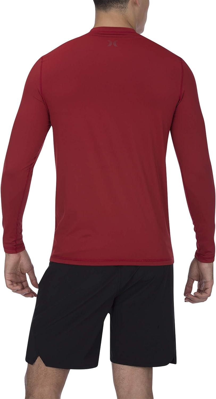 24M Hurley Boys Long Sleeve Rash Guard Coverall Red Orbit//Valerian