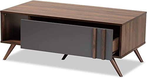 Baxton Studio Coffee Tables, Grey Walnut